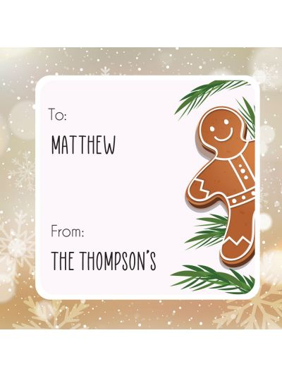 Personalised Christmas Label (set of 8)