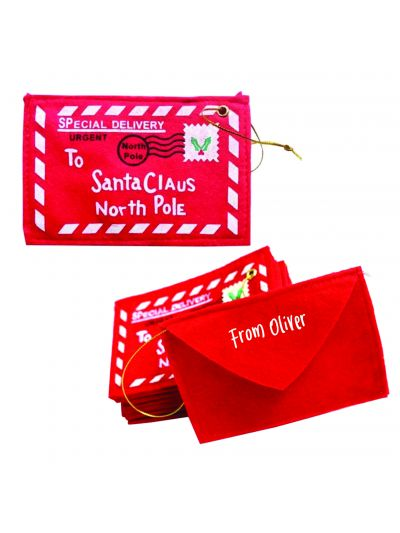 Personalised Envelope to Santa Ornament