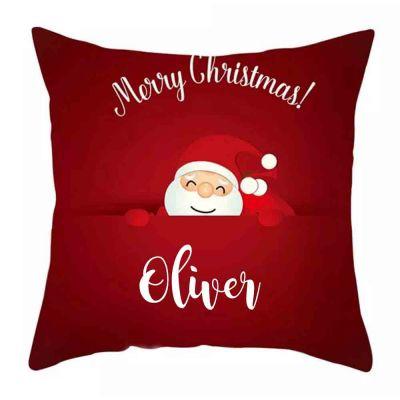 Personalised Santa Cushion Cover