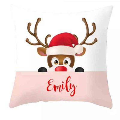 Personalised Reindeer Cushion Cover