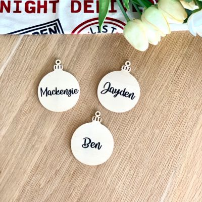 Personalised Flat Bauble Ornament