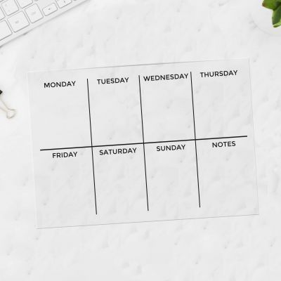 Acrylic A4 Weekly Planner