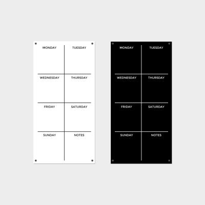 Black or White Weekly Planner - 30 x 60cm Portrait