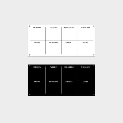 Black or White Weekly Planner - 30 x 60cm Landscape