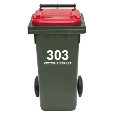 Bin Sticker - House Number & Address