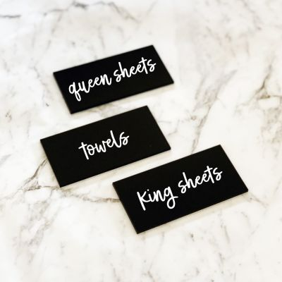 Acrylic Tag - Black (with label)