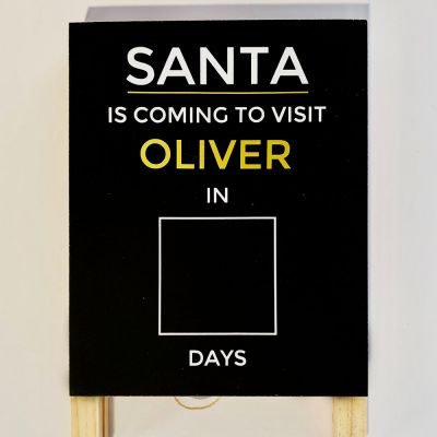 'Santa is Visiting' Board Decal