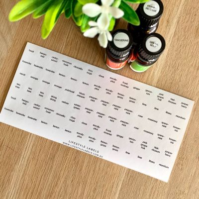 Doterra Essential Oil Cap Stickers (Pack of 84)
