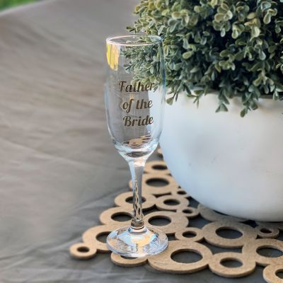 Bridal Party Champagne Glass Labels