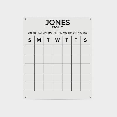 Clear Acrylic Family Name Planner - Portrait