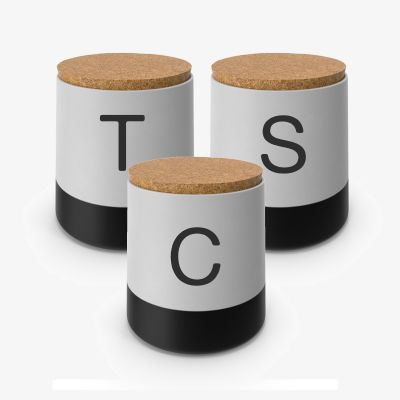 Tea, Coffee, Sugar Labels (3 Pack) - Initials