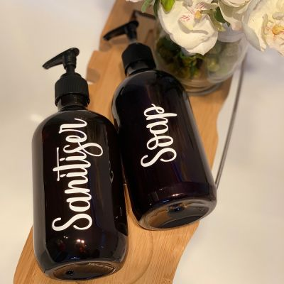 Bathroom Dispenser Labels