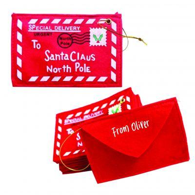 Personalised Envelope to Santa Ornament