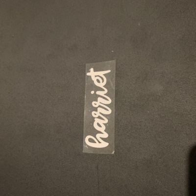 Heat Transfer Label - Harriet