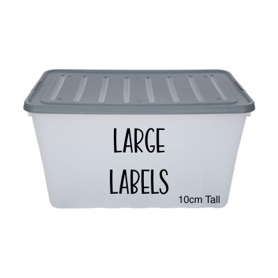 Large Storage Box Labels