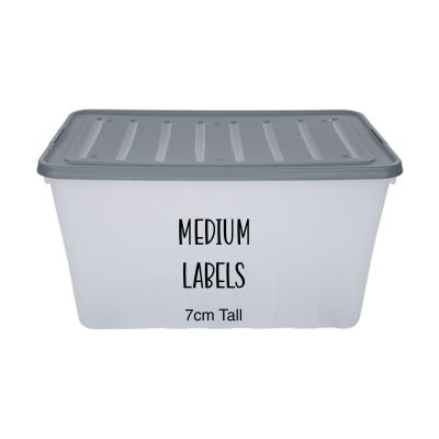 Medium Storage Box Labels