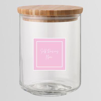 Pink Printed Pantry Labels
