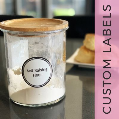 Printed Pantry Labels - Round - Custom Labels