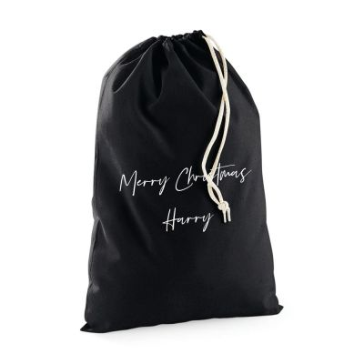PRE-ORDER: CUSTOM - Personalised Christmas / Birthday Sack (Black, Red, Cream available)