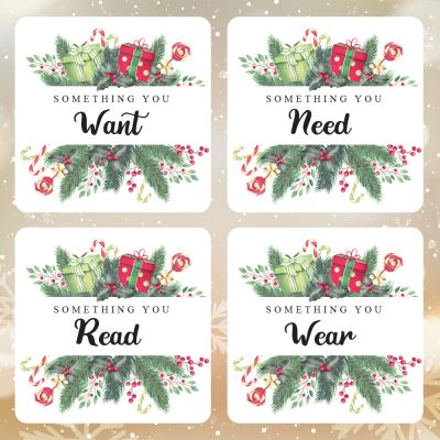 Something You Want, Need, Wear & Read Stickers (2 Sets)