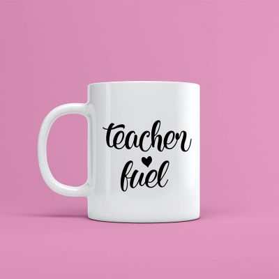 'Teacher Fuel' Mug Label