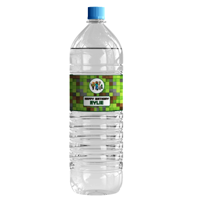 Personalised Minecraft Water Bottle Stickers